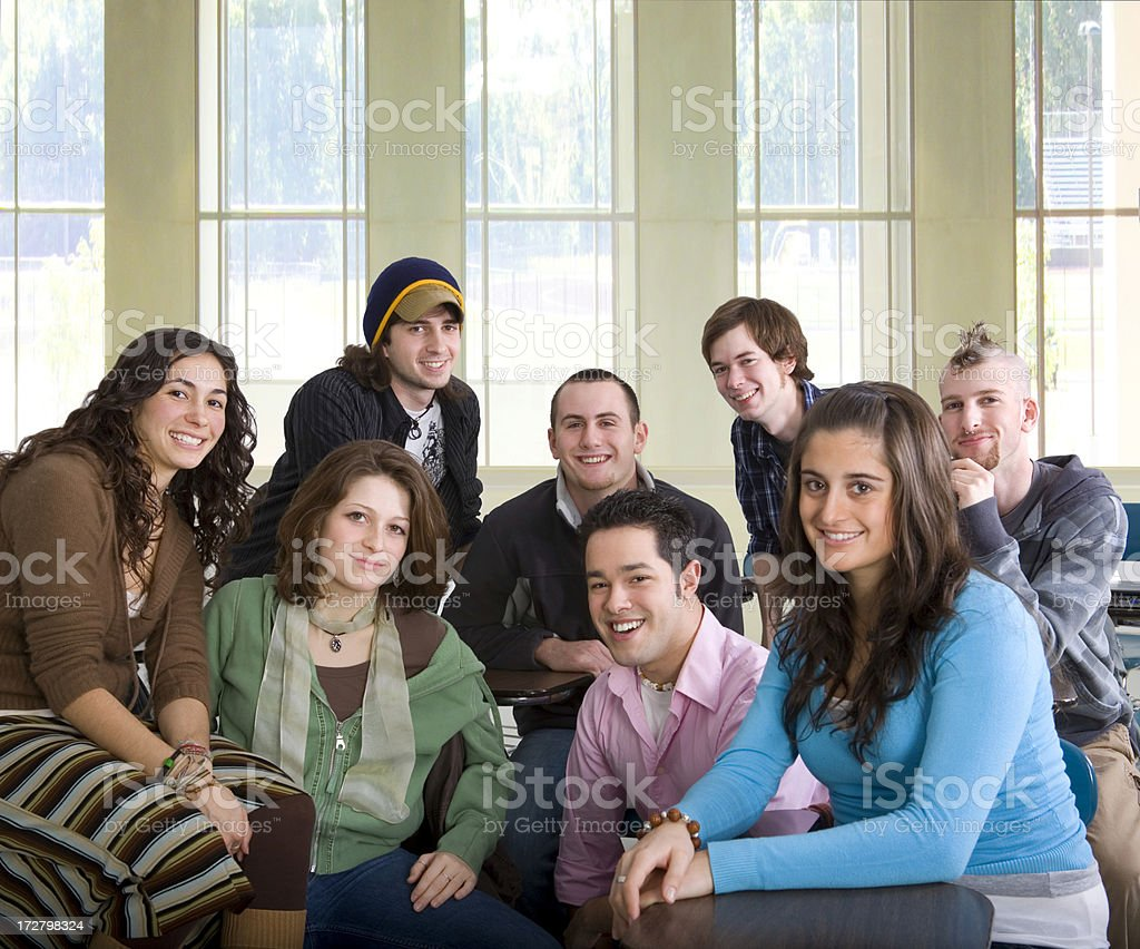 high school class royalty-free stock photo