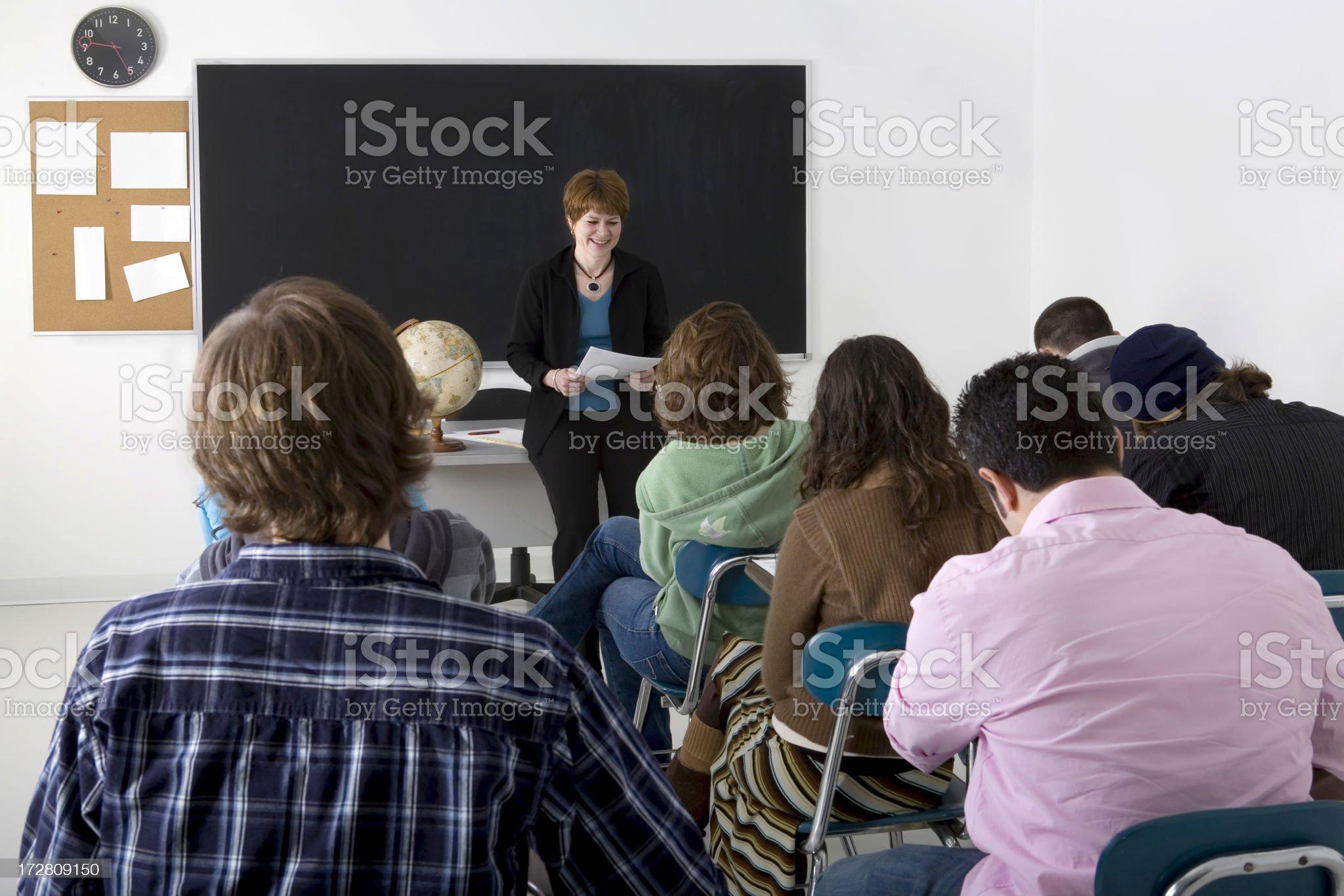high school classroom royalty-free stock photo