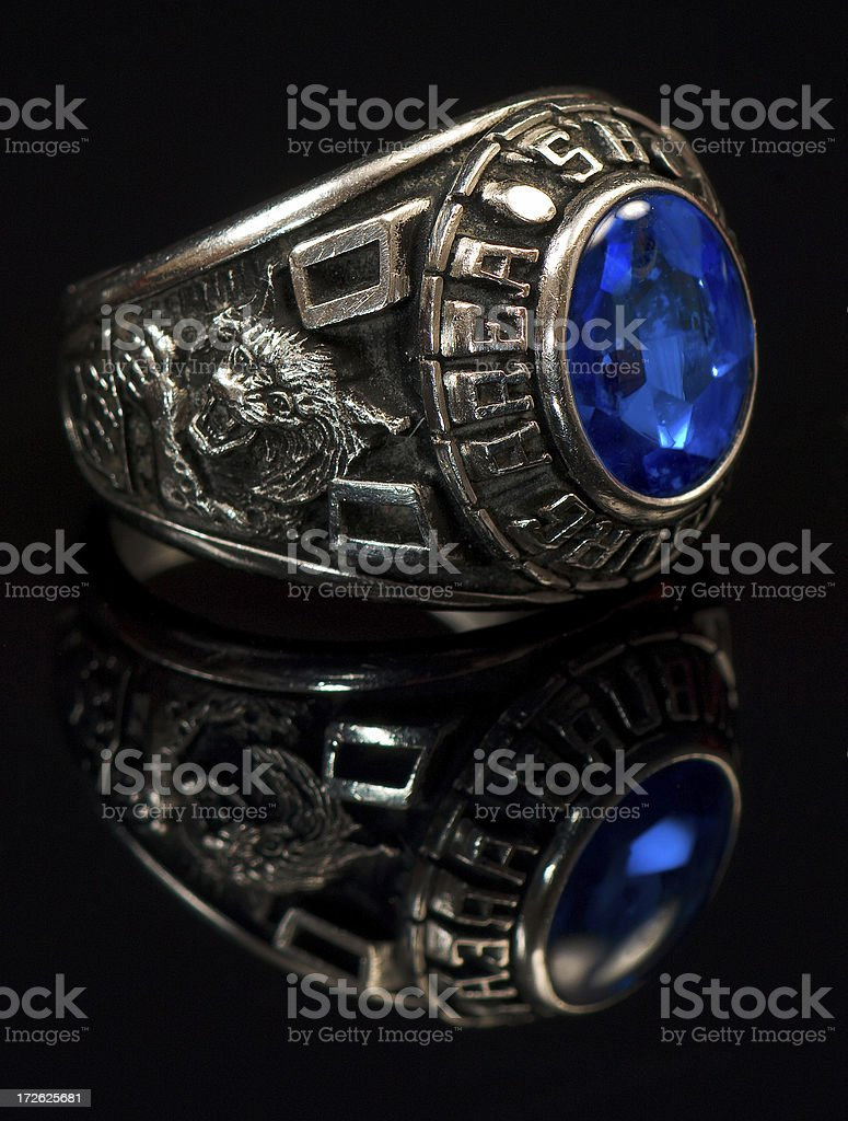 High School / College Ring stock photo