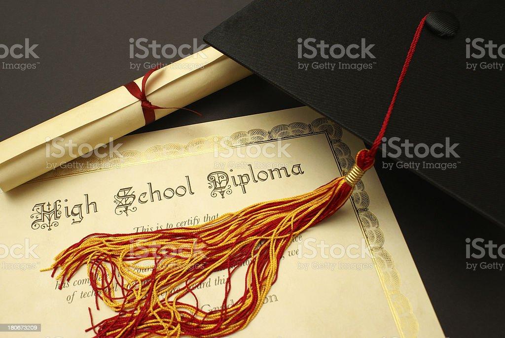 High School Diploma royalty-free stock photo