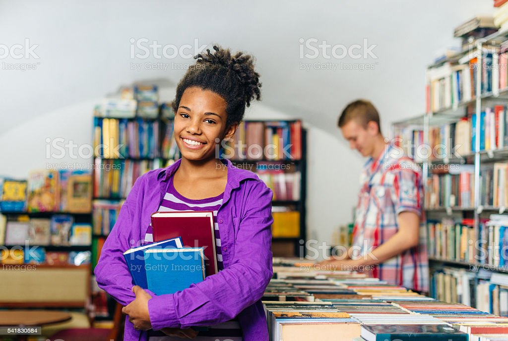 High school education in USA. stock photo