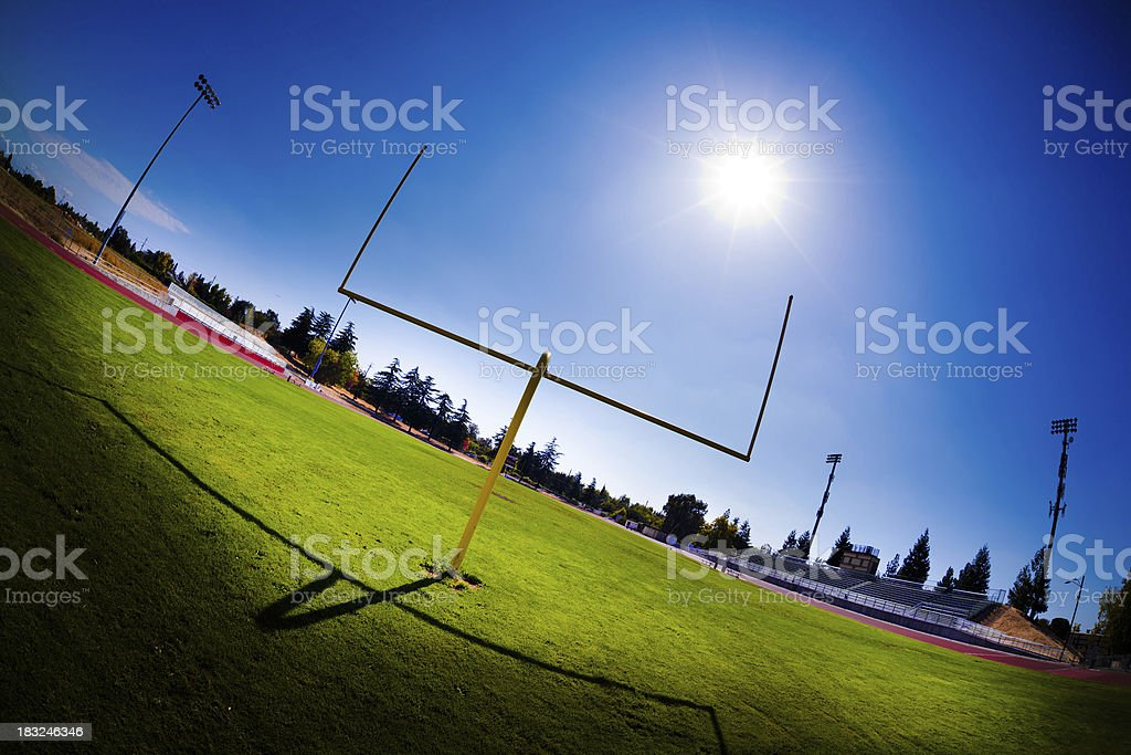 High School Football Field royalty-free stock photo