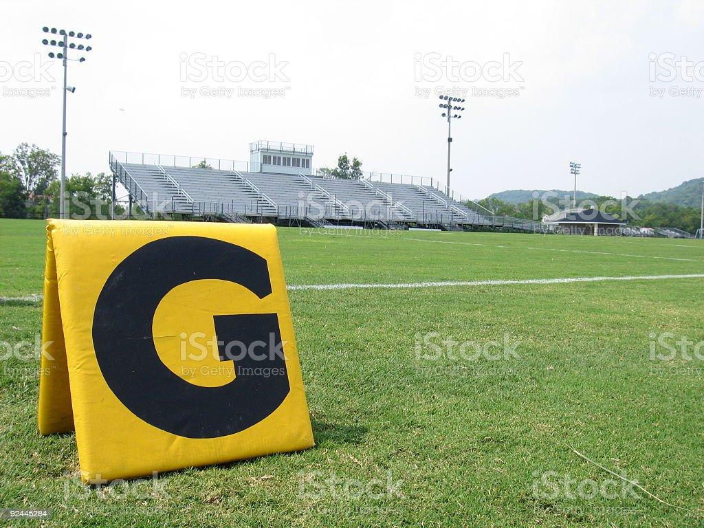 High School Football Field stock photo