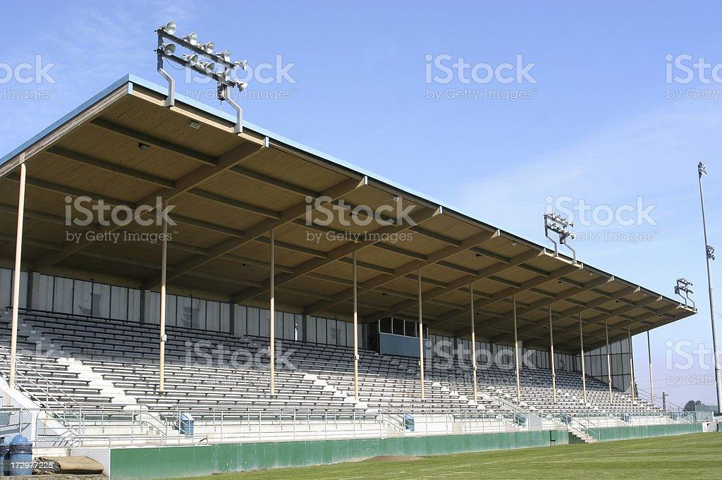 High School Football Grandstands stock photo