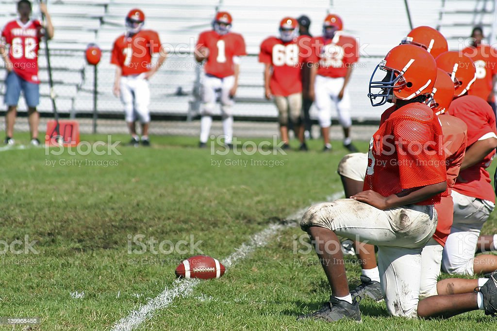 High School Football Line royalty-free stock photo