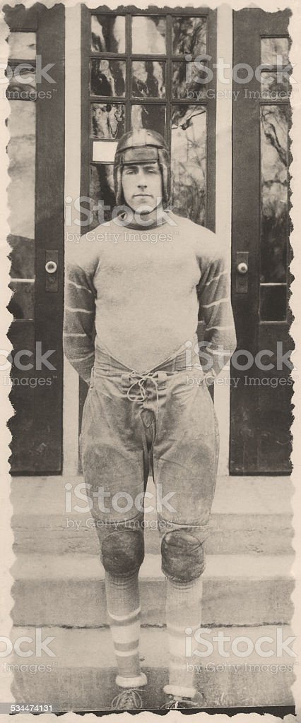 high school football player 1943 stock photo