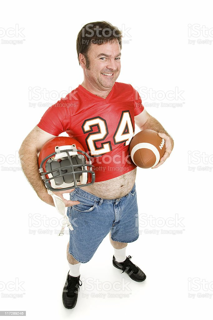 High School Football Star at 40 royalty-free stock photo