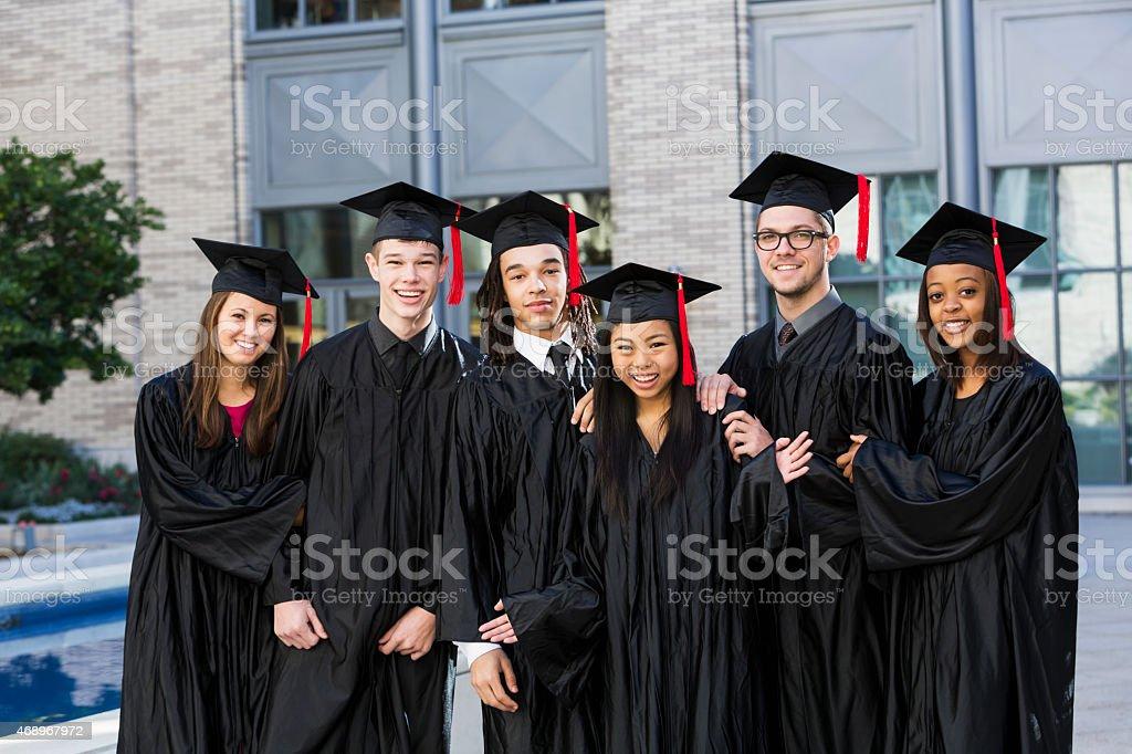 High school graduating class stock photo