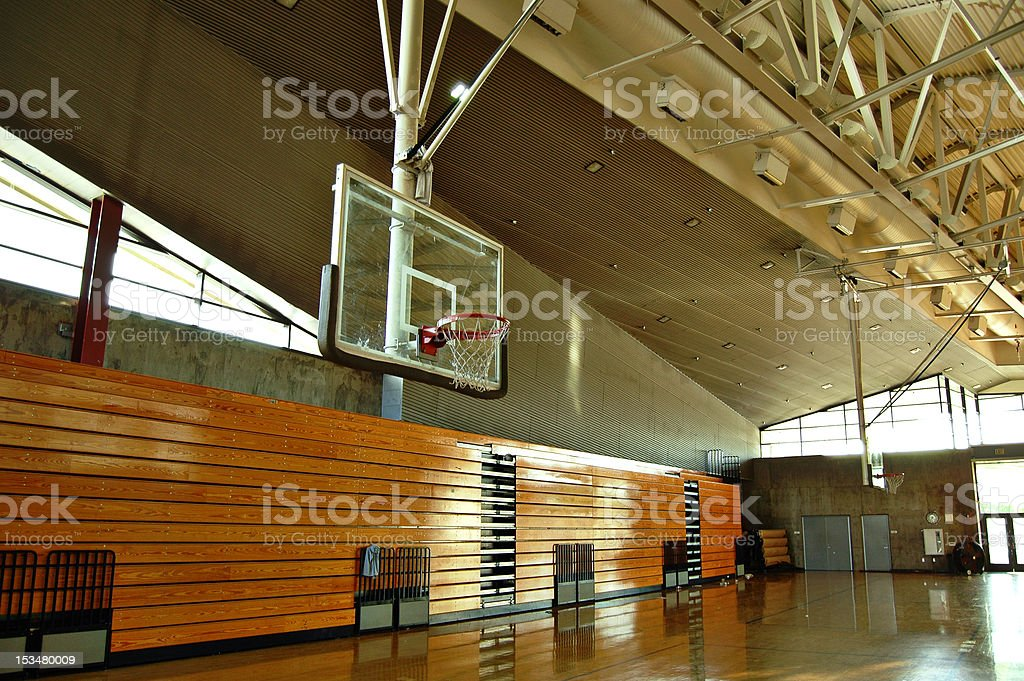 High school gym stock photo