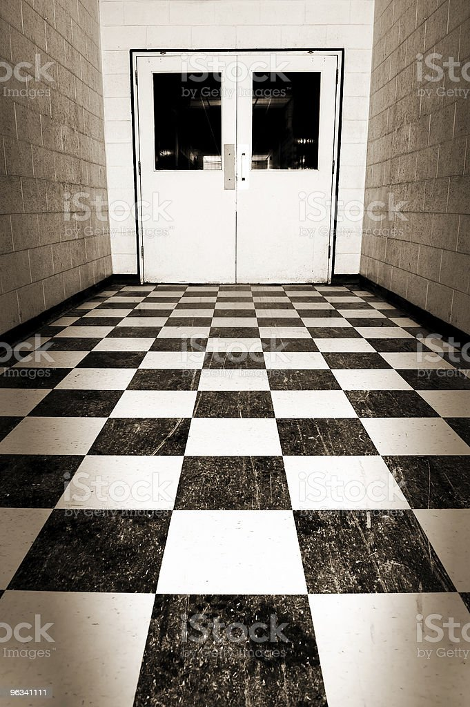 High School Hallways royalty-free stock photo