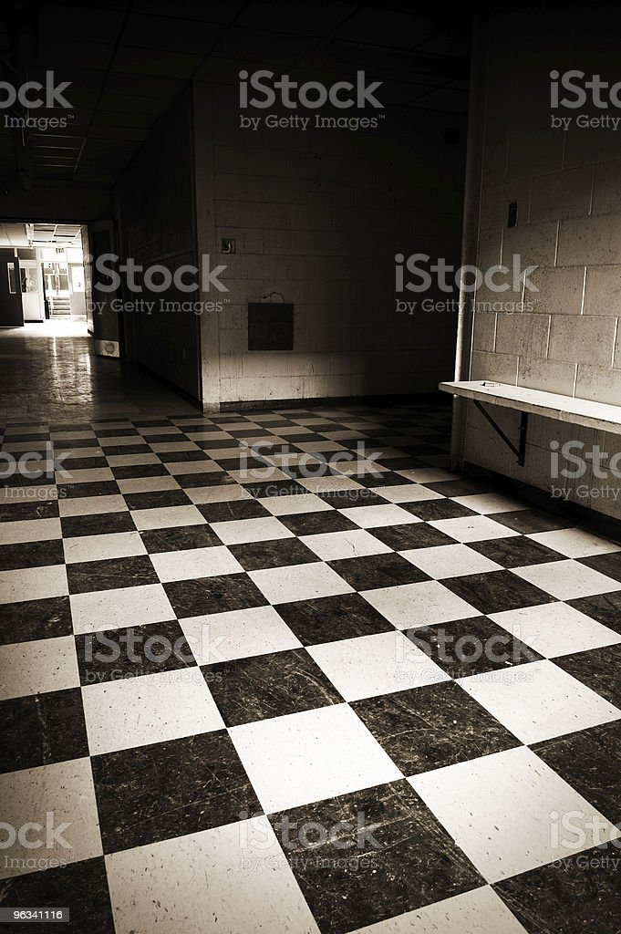 High School Hallways stock photo