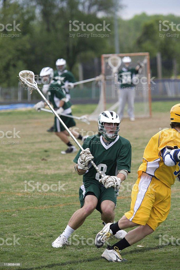 High school lacrosse royalty-free stock photo