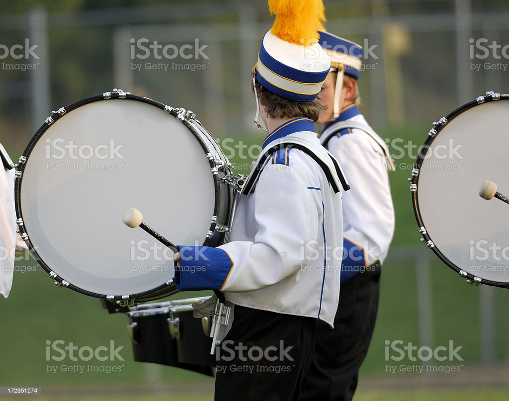 High School marching band. royalty-free stock photo