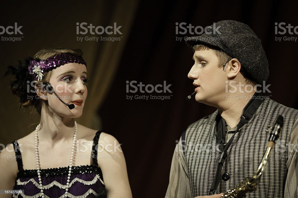 High School Musical Drama royalty-free stock photo