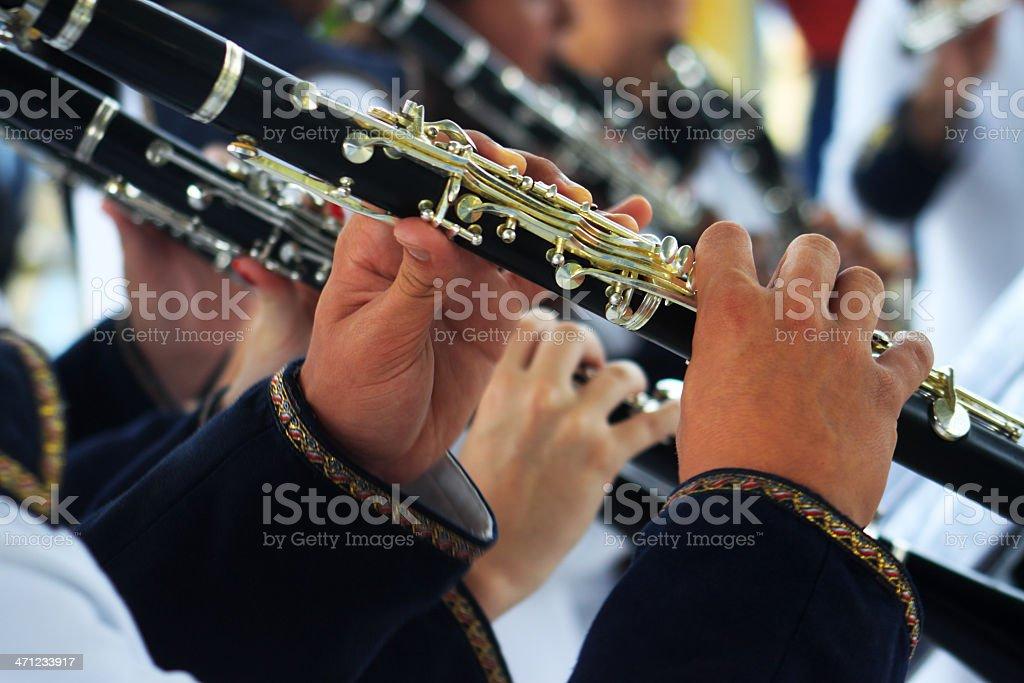 High school musicians royalty-free stock photo