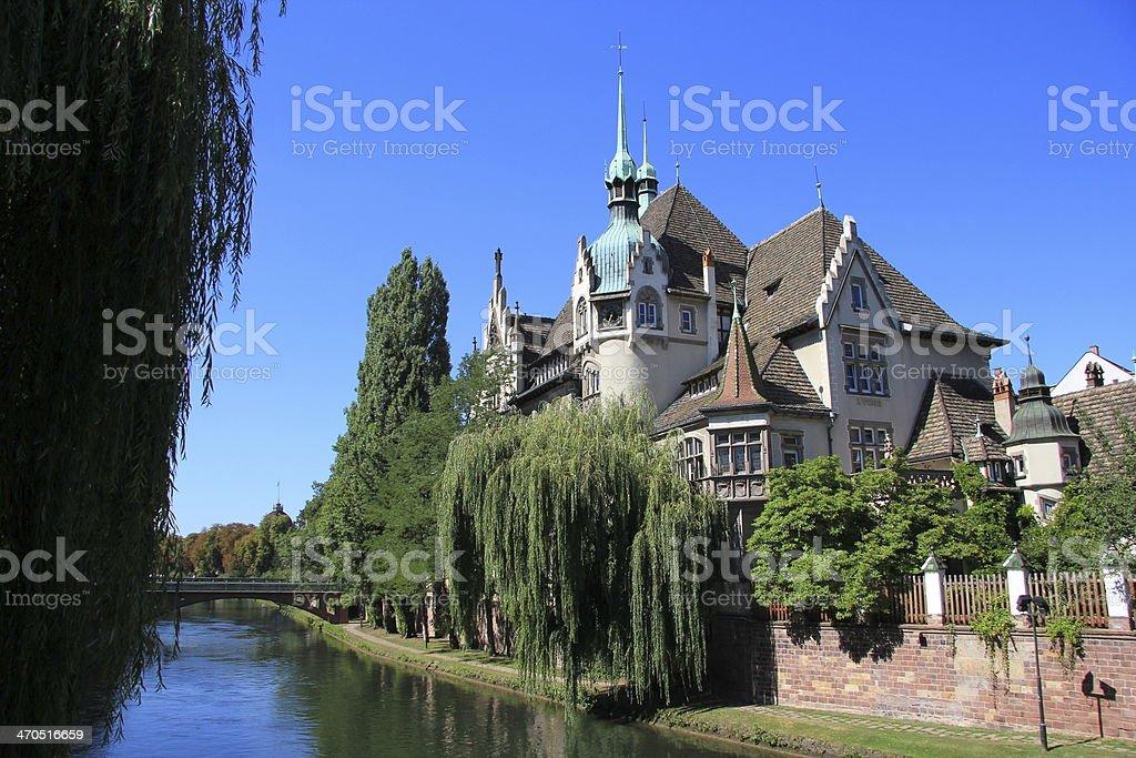 High school of Pontonniers, Strasbourg stock photo