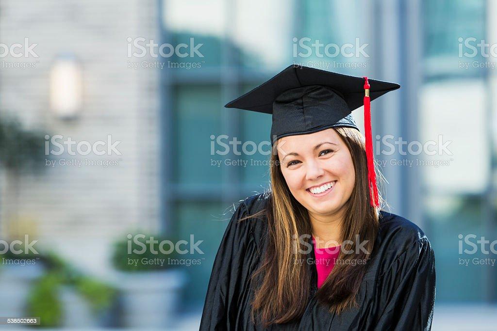 High school or college graduate stock photo