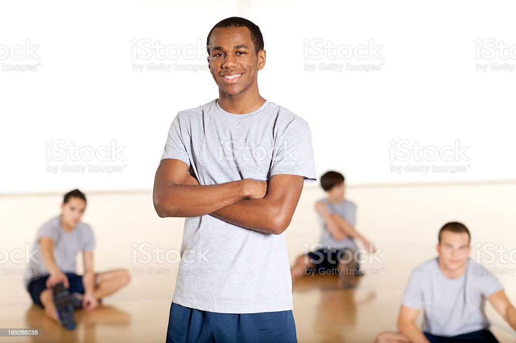 High school physical education royalty-free stock photo