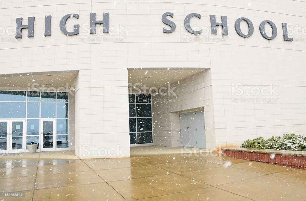 High school stock photo