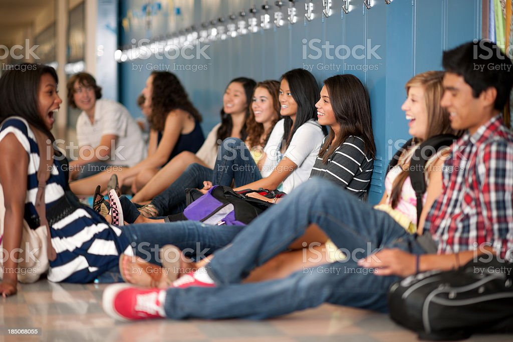 High school royalty-free stock photo