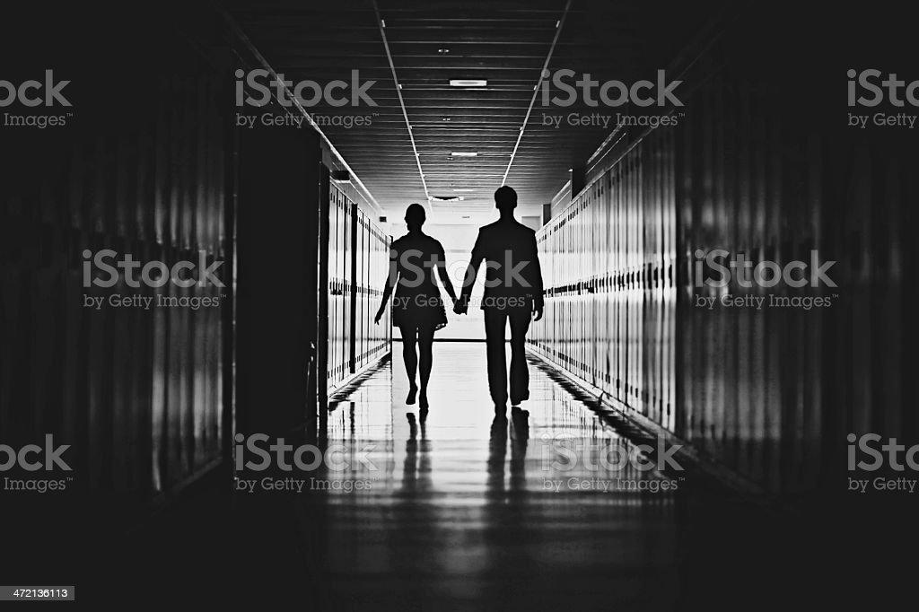 High School Romance stock photo