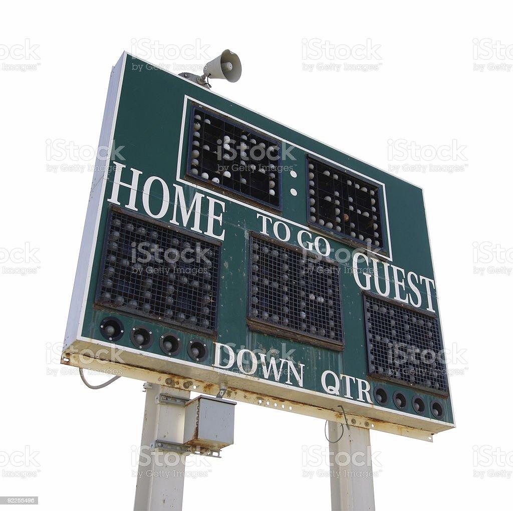 High School Scoreboard royalty-free stock photo