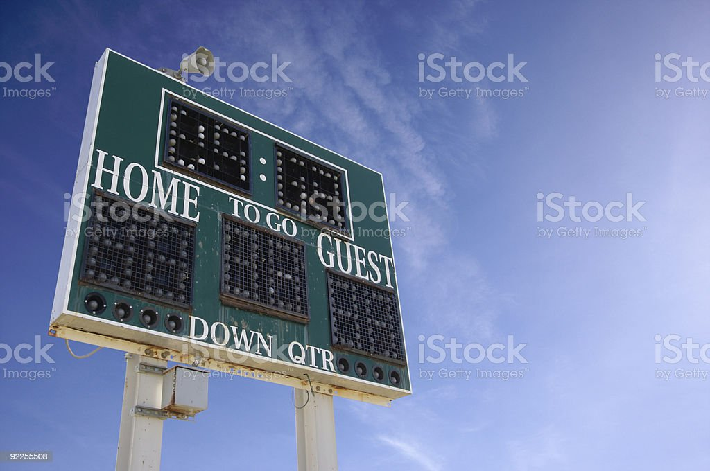High School Scoreboard stock photo