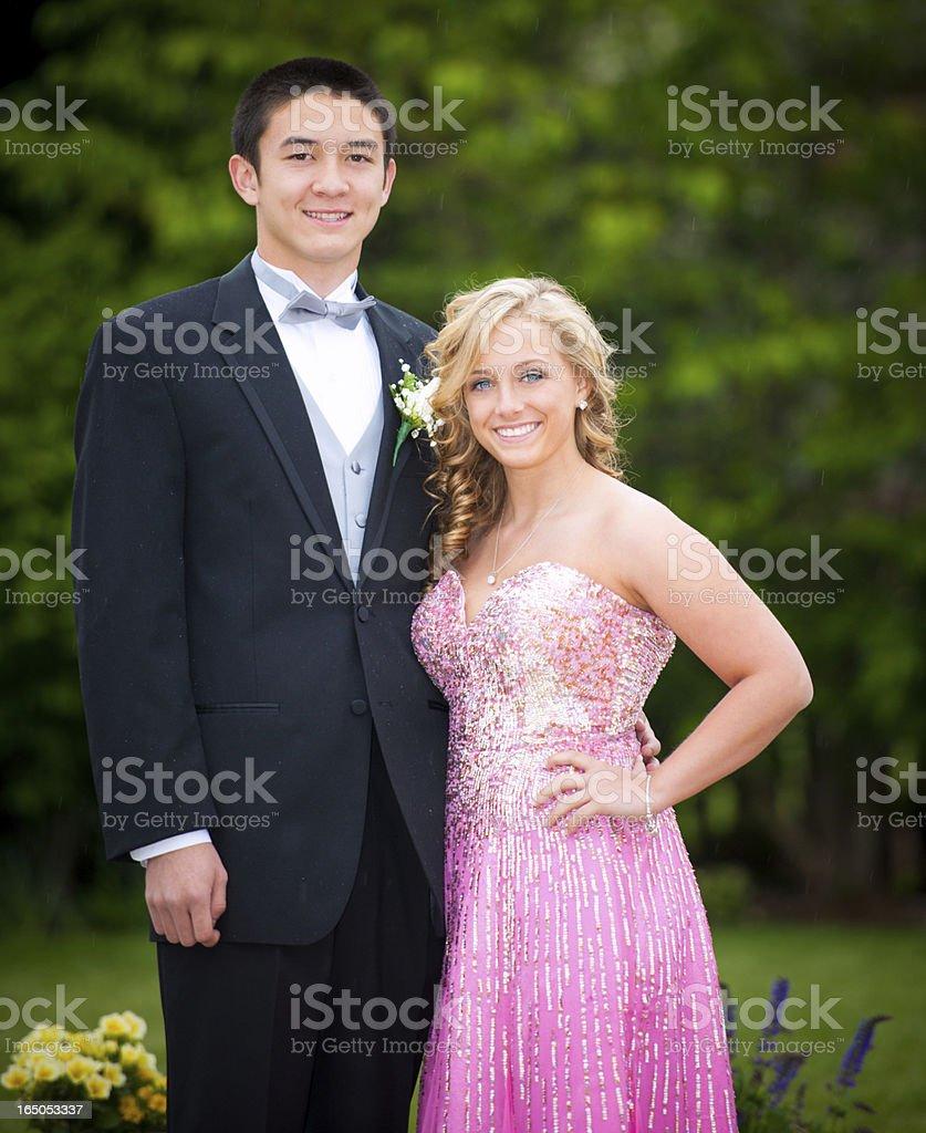 High School Senior Prom Couple stock photo