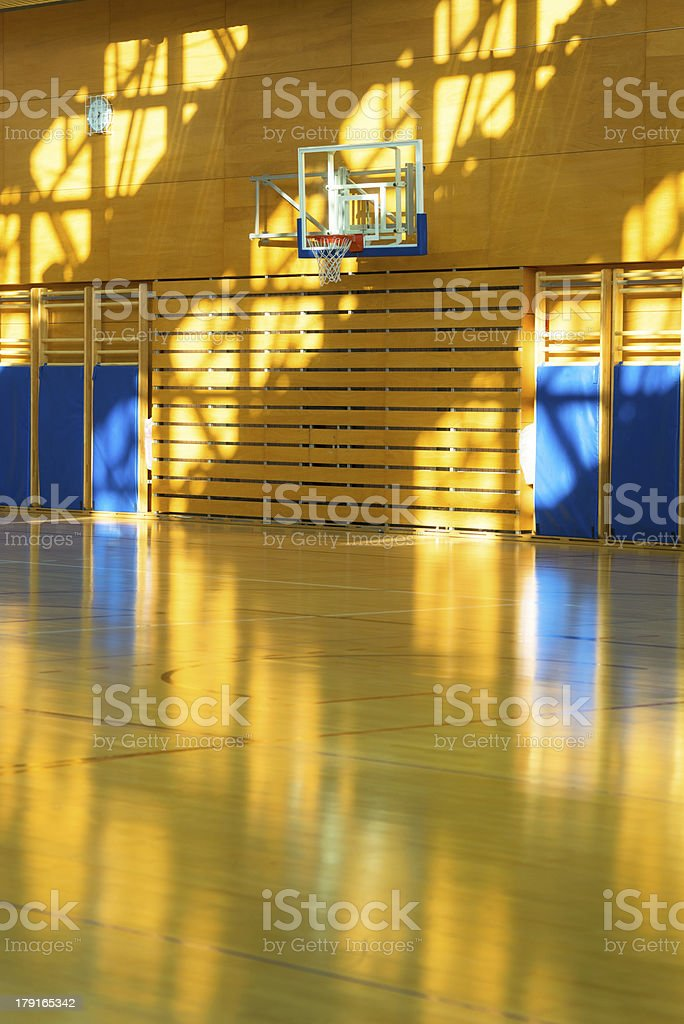 High School Sport Centre Hall in Contrast Light royalty-free stock photo