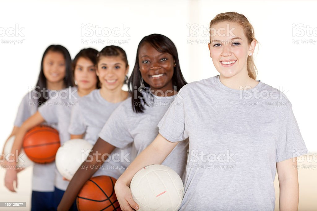 High school sports stock photo