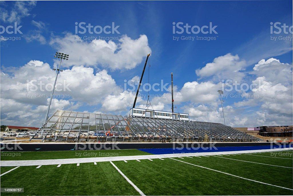 High School Stadium 2 stock photo