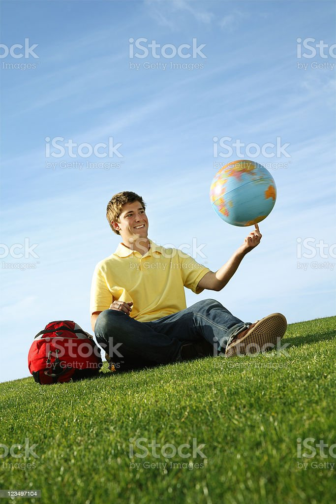 High school student royalty-free stock photo