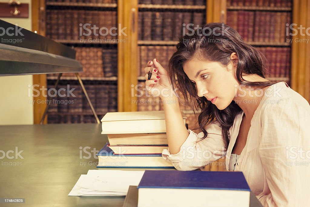 High School student reading a book royalty-free stock photo
