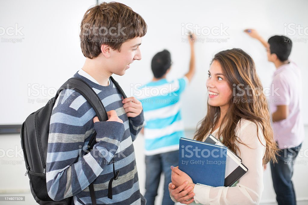 High school students in class. royalty-free stock photo