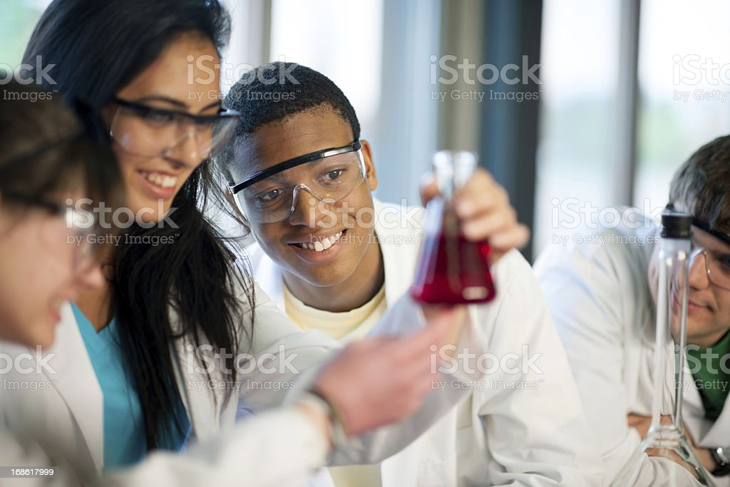 High school students stock photo