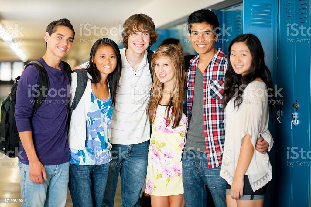 High school students. royalty-free stock photo