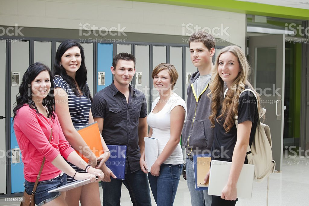 High School Students royalty-free stock photo