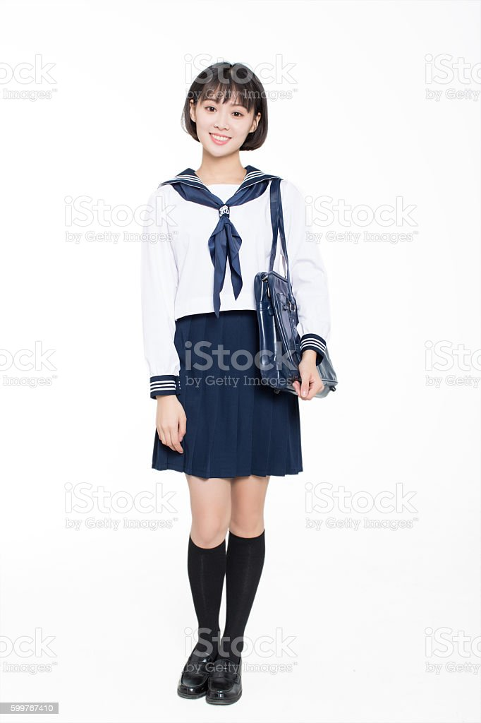 high school students wear uniforms stock photo