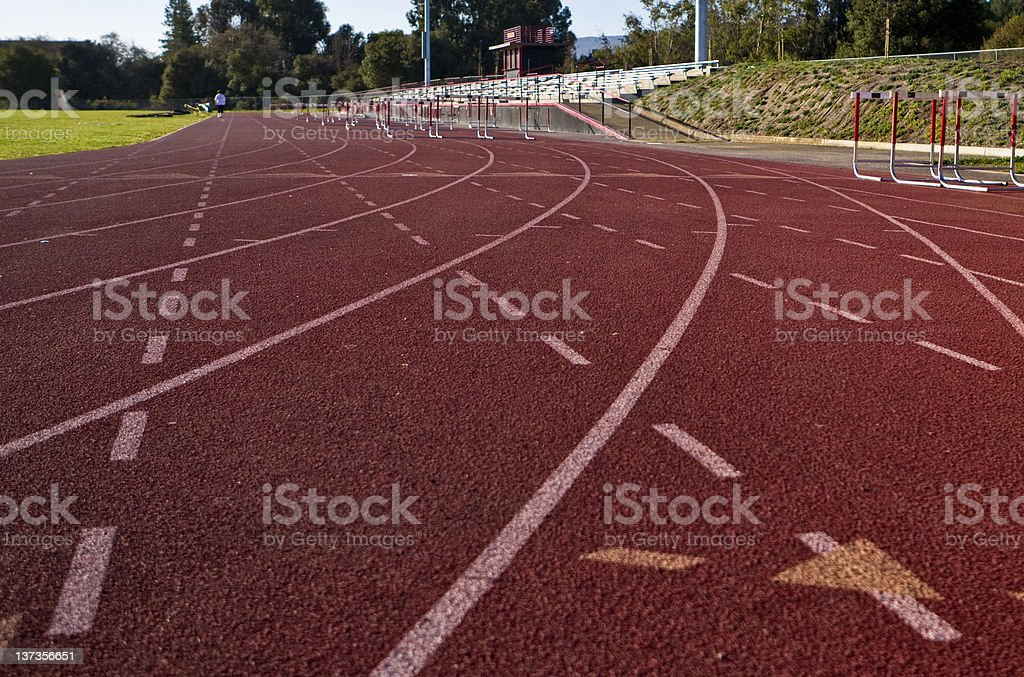 High School Track royalty-free stock photo