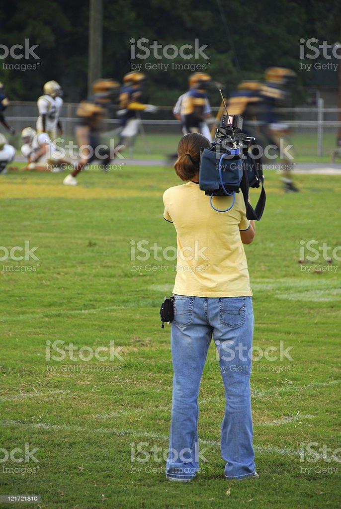 High School Videographer royalty-free stock photo