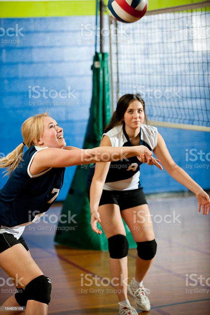 High school volleyball stock photo