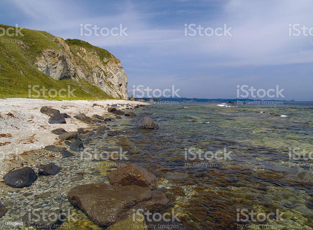 High sea coast stock photo