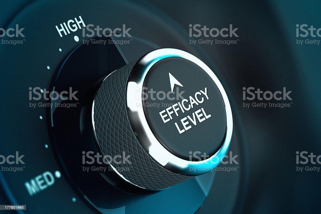 High Self Efficacy Level - Efficiency Objective stock photo