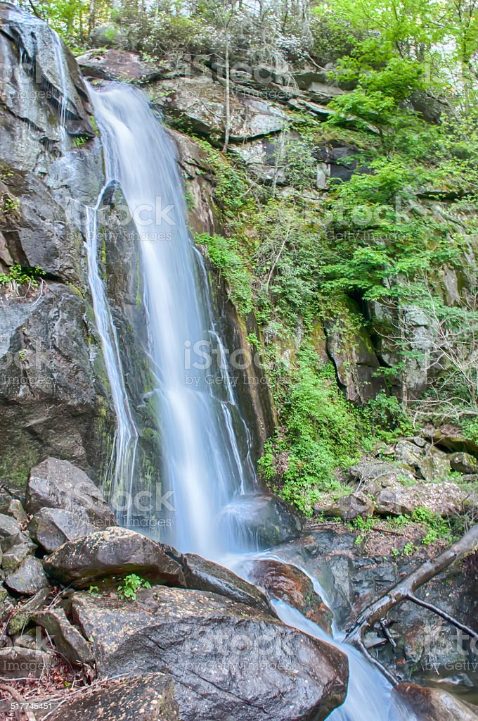 high shoal falls in south mountains stock photo