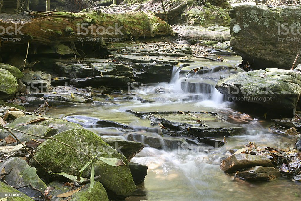 High Shoals Creek in Georgia royalty-free stock photo