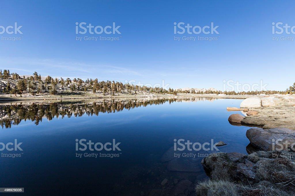 High Sierra Lake in Cottonwood Basin stock photo