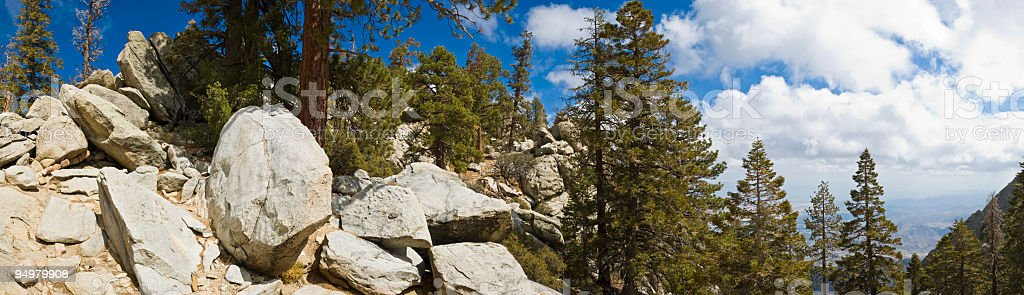 High Sierra lookout royalty-free stock photo