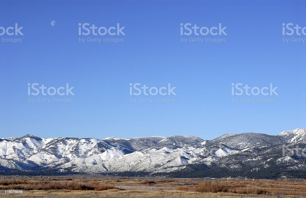 High Sierra Moon royalty-free stock photo