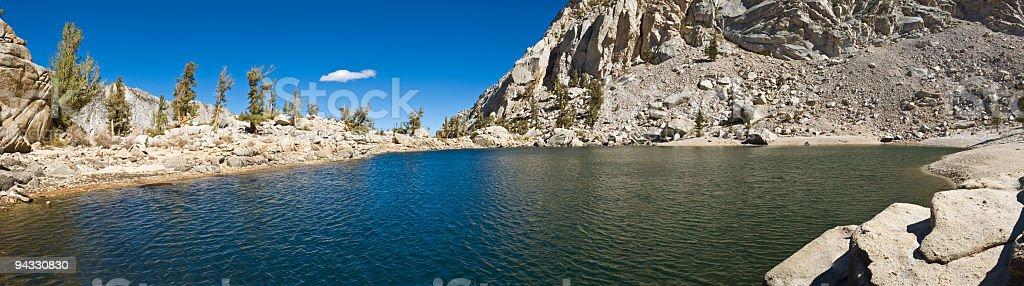 High sierra mountain lake stock photo