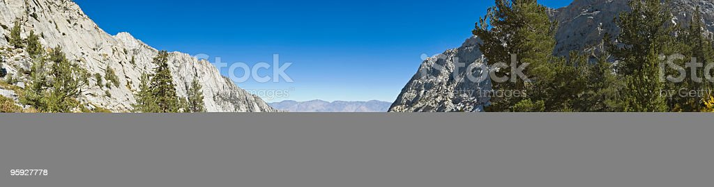High Sierra trail panorama royalty-free stock photo